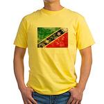 Saint Kitts Nevis Flag Yellow T-Shirt
