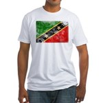 Saint Kitts Nevis Flag Fitted T-Shirt