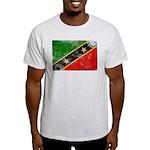 Saint Kitts Nevis Flag Light T-Shirt