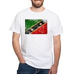 Saint Kitts Nevis Flag White T-Shirt