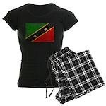 Saint Kitts Nevis Flag Women's Dark Pajamas