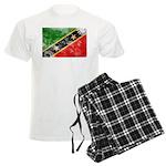 Saint Kitts Nevis Flag Men's Light Pajamas