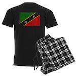 Saint Kitts Nevis Flag Men's Dark Pajamas