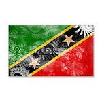Saint Kitts Nevis Flag 22x14 Wall Peel