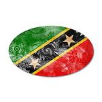 Saint Kitts Nevis Flag 22x14 Oval Wall Peel