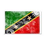 Saint Kitts Nevis Flag Car Magnet 20 x 12