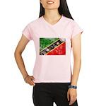 Saint Kitts Nevis Flag Performance Dry T-Shirt
