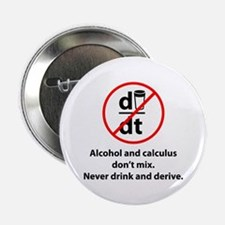 "Never drink and derive 2.25"" Button"