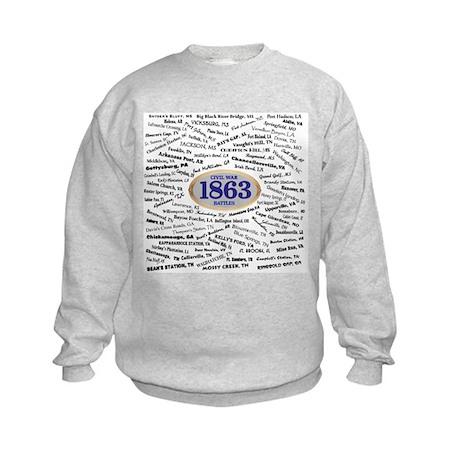1863 Civil War Battles / Name Kids Sweatshirt