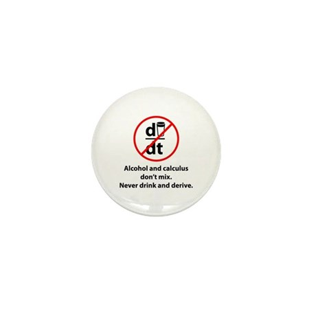 Never drink and derive Mini Button (10 pack)