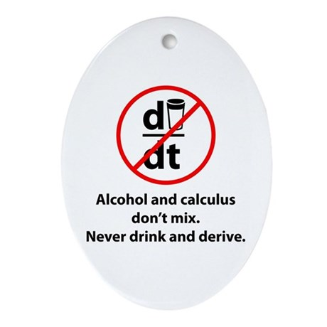 Never drink and derive Ornament (Oval)