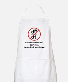 Never drink and derive Apron