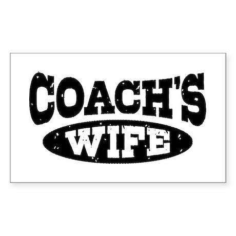 Coach's Wife Sticker (Rectangle)
