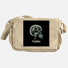 x-ray man triathlete Messenger Bag