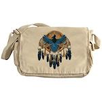 Steller's Jay Dreamcatcher Mandala Messenger Bag