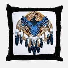 Steller's Jay Dreamcatcher Mandala Throw Pillow