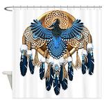 Steller's Jay Dreamcatcher Mandala Shower Curtain