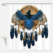 Steller's Jay Dreamcatcher Mandala Shower Curtain