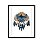 Steller's Jay Dreamcatcher Mandala Framed Panel Pr