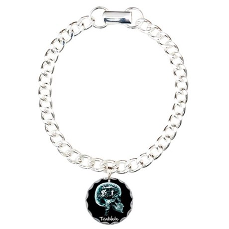 x-ray man triathlete Charm Bracelet, One Charm