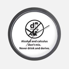 Never drink and derive Wall Clock