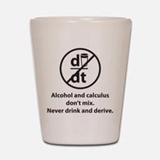 Never drink and derive Shot Glass