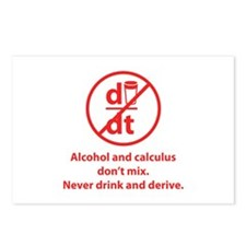 Never drink and derive Postcards (Package of 8)