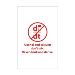 Never drink and derive Posters