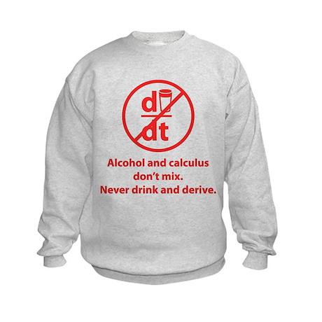 Never drink and derive Kids Sweatshirt