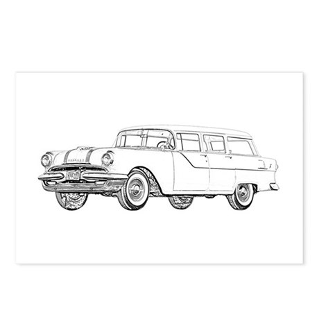 1955 Pontiac Catalina Postcards (Package of 8)