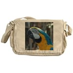 Blue and Gold Macaw Messenger Bag