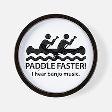 Paddle Faster I Hear Banjo Music Wall Clock