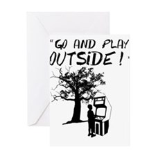 Go and Play Outside! Greeting Card