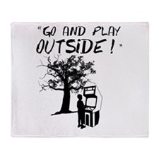 Go and Play Outside! Throw Blanket
