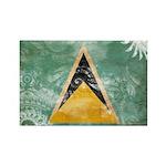 Saint Lucia Flag Rectangle Magnet (100 pack)