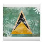 Saint Lucia Flag Tile Coaster