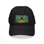Saint Lucia Flag Black Cap