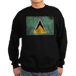 Saint Lucia Flag Sweatshirt (dark)