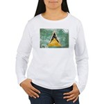 Saint Lucia Flag Women's Long Sleeve T-Shirt