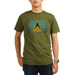 Saint Lucia Flag Organic Men's T-Shirt (dark)