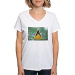 Saint Lucia Flag Women's V-Neck T-Shirt