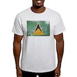 Saint Lucia Flag Light T-Shirt