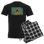 Saint Lucia Flag Men's Dark Pajamas