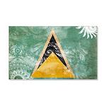 Saint Lucia Flag 22x14 Wall Peel