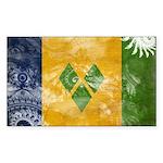 Saint Vincent Flag Sticker (Rectangle 10 pk)