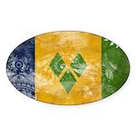 Saint Vincent Flag Sticker (Oval 10 pk)