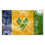 Saint Vincent Flag Sticker (Rectangle)