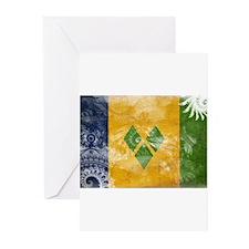 Saint Vincent Flag Greeting Cards (Pk of 20)