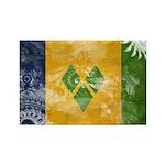 Saint Vincent Flag Rectangle Magnet (100 pack)