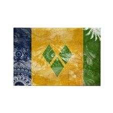 Saint Vincent Flag Rectangle Magnet
